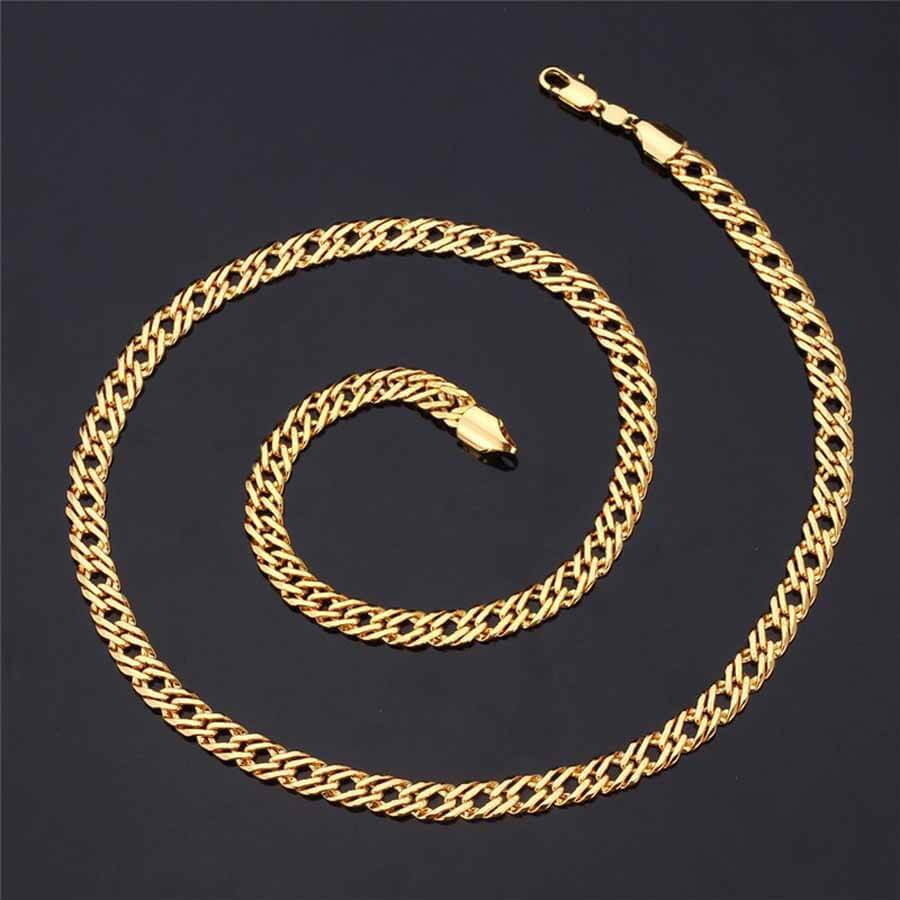 Men's Trendy 6 mm Italian Link Neck Chain Gold