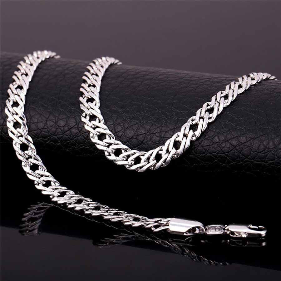 Silver Men's Trendy 6 mm Italian Link Neck Chain
