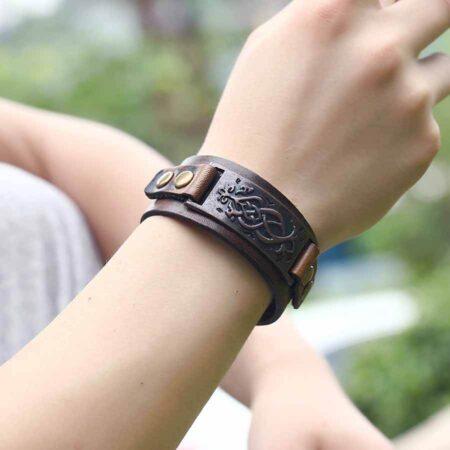 Wrist Men's Genuine Leather Bracelet