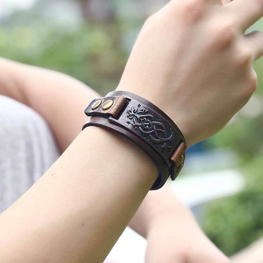 Wrist Men's Genuine Leather Bracelet