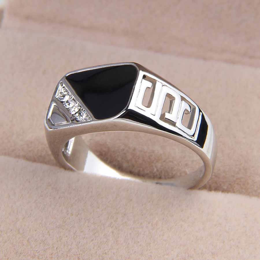 Enamel Men's Fashion Ring