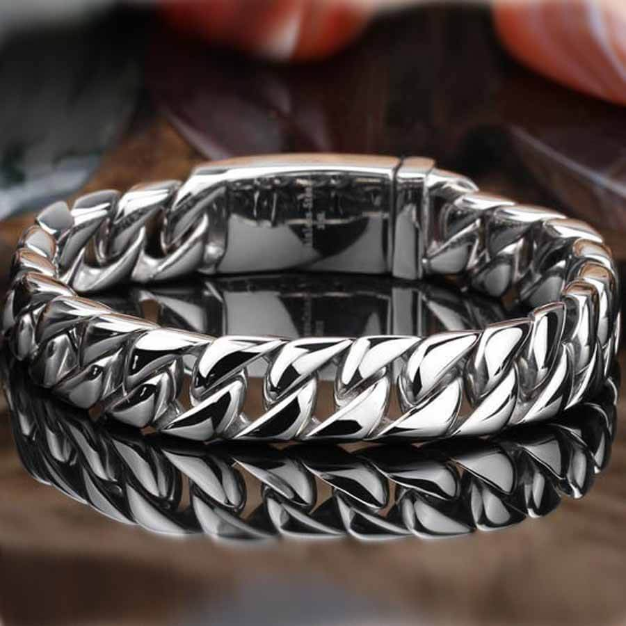 Men's Heavy Stainless Steel Bracelet
