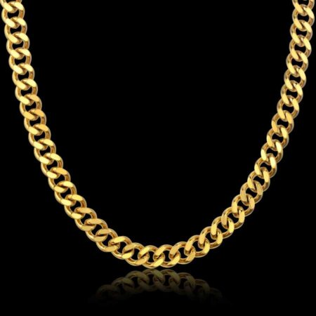 Gold plated Men's Heavy Gold or Silver Neck Chain