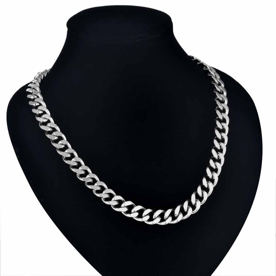 Silver Men's Heavy Gold or Silver Neck Chain
