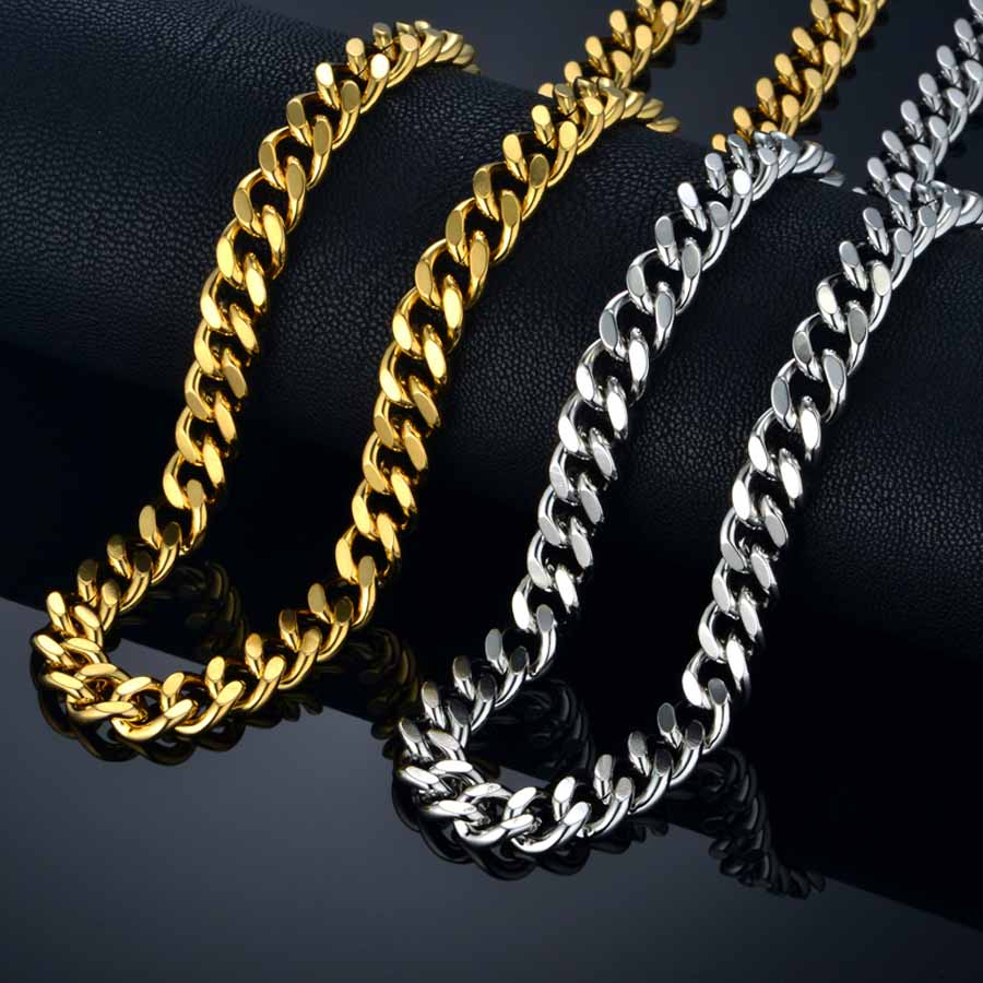 Men's Heavy Gold or Silver Neck Chain (Long)