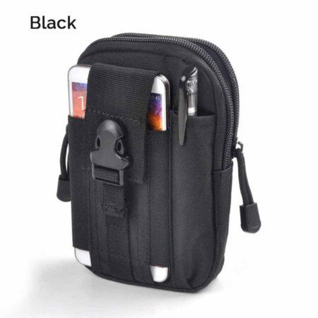 Black Men's Waist Bag Water Resistant