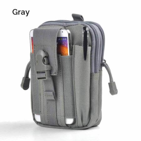 Gray Men's Waist Bag Water Resistant