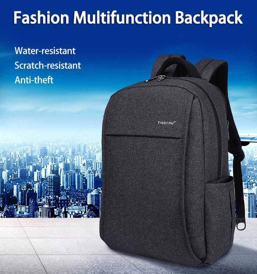 Backpack USB Port Anti-theft Compartments
