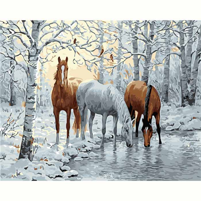 Paint by Number Horse DIY Paintings
