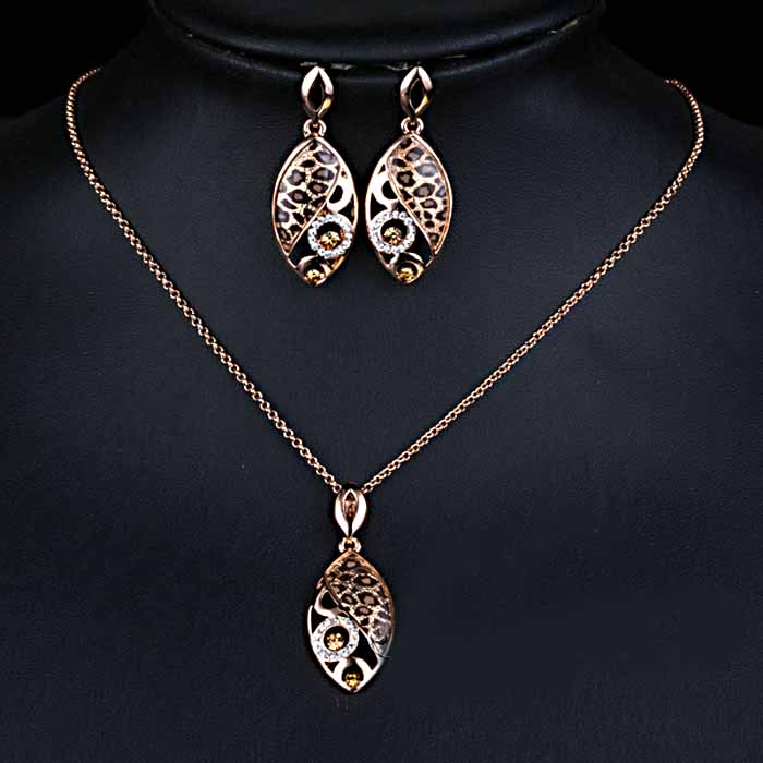 Rose Gold Plated Jewelry Set Julie Luvit Quality Products