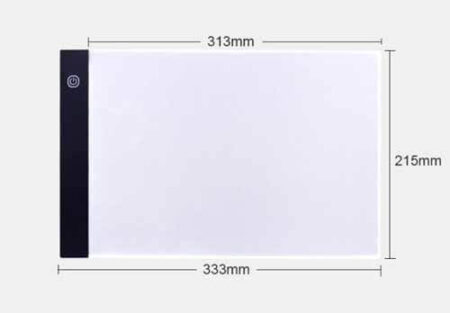 Dimensions Tracing Pad Led Light A4 Ultra Thin